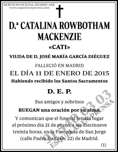 Catalina Rowbotham Mackenzie